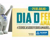 Saúde promove Dia D contra febre amarela em 29 de julho