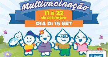Sábado é o Dia D da Campanha Nacional de Multivacinação em Salvador