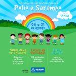 Mais de 130 mil crianças devem se imunizar na campanha contra Pólio e Sarampo em Salvador