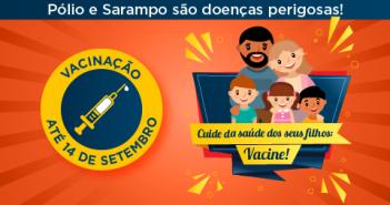 Amanhã é o último dia da campanha de vacinação contra pólio e sarampo em Salvador