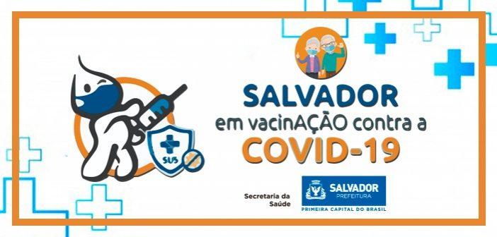 Primeira dose da vacinação contra a Covid-18 segue neste domingo (11) exclusivamente para idosos em Salvador